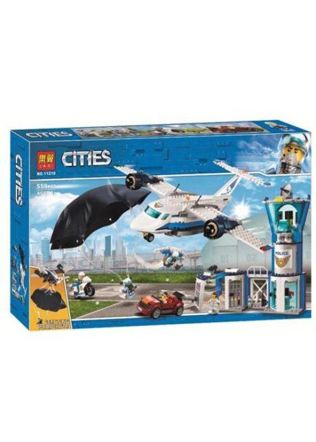 Конструктор Сити LARI Cities 11210 Воздушная полиция 559 деталей