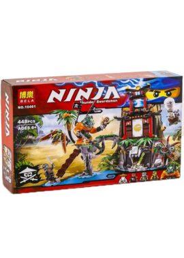 Конструктор Bela Ninja 10461 Тигровый остров вдов 448 деталей