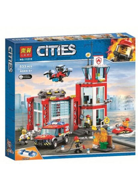 конструктор bela lari cities 11215 пожарное депо