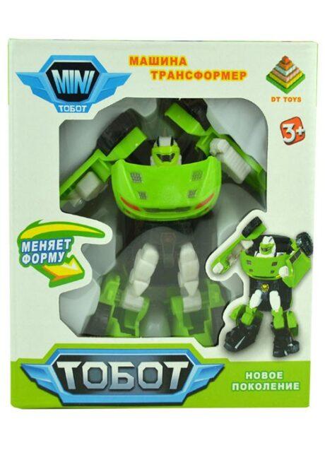тобот машина трансформер 12 см зелёный в коробке